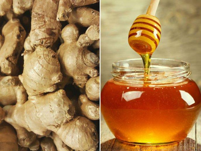 beneficios de comer miel y jengibre